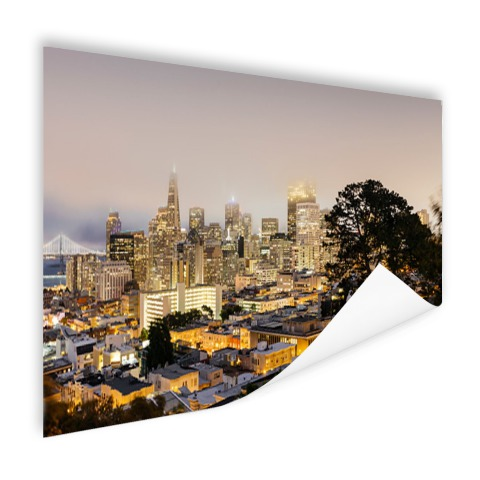 San Francisco by night op poster