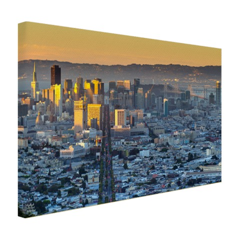 San Francisco in ochtendlicht op canvas