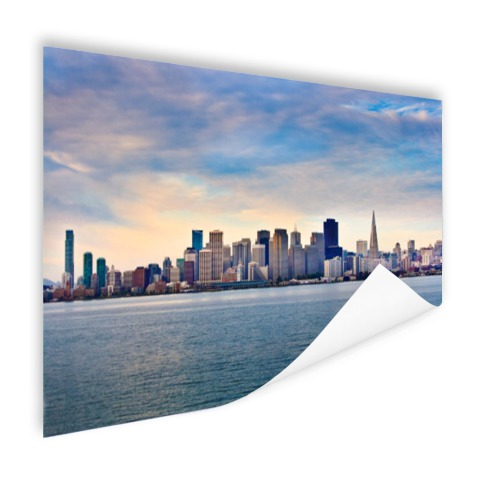 San Francisco skyline op poster