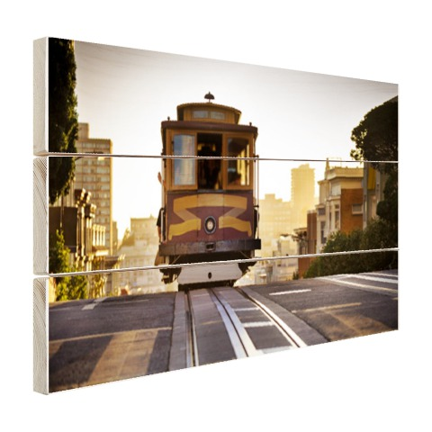 Tram in San Francisco op hout
