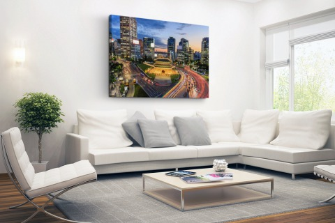 Oude poort Seoul Canvas