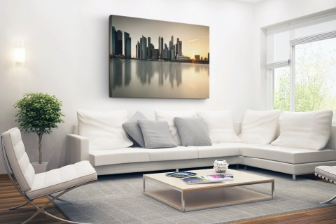 Singapore skyline Canvas