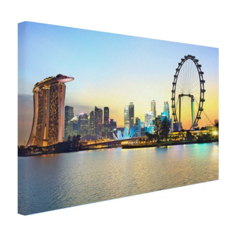 Singapore Blue Hour op canvas