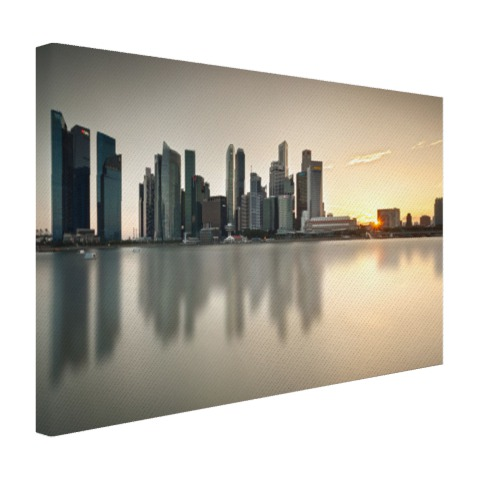 Singapore skyline op canvas
