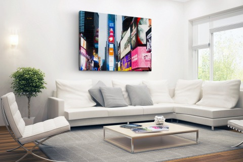 Neon lichten Times Square Canvas