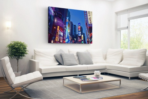 Times Square by night Canvas