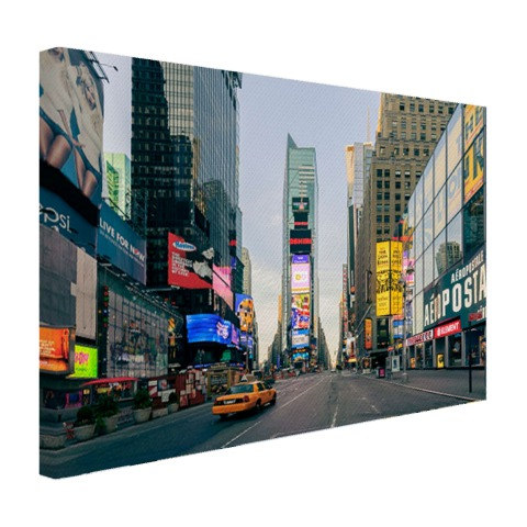 Gele taxi in Times Square Canvas