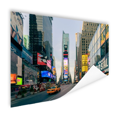 Gele taxi in Times Square Poster