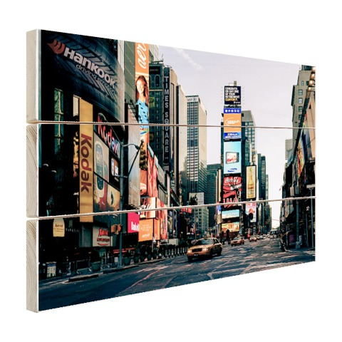 Reclameborden Times Square Hout