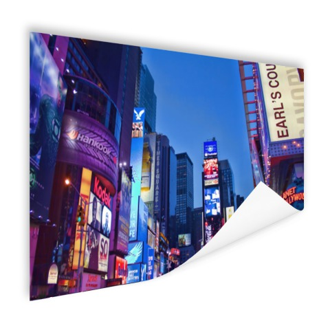 Times Square by night Poster