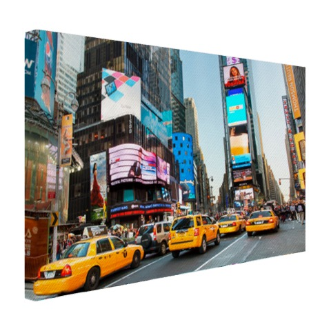 Times Square gele taxis foto afdruk Canvas