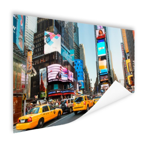 Times Square gele taxis foto afdruk Poster