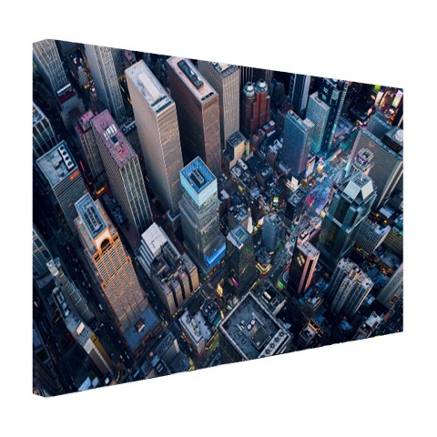 Times Square van boven Canvas