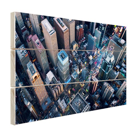 Times Square van boven Hout