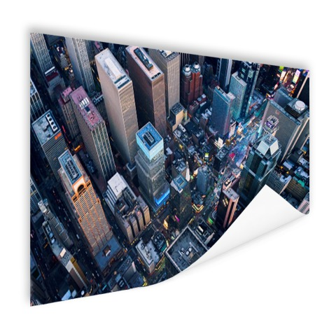 Times Square van boven Poster