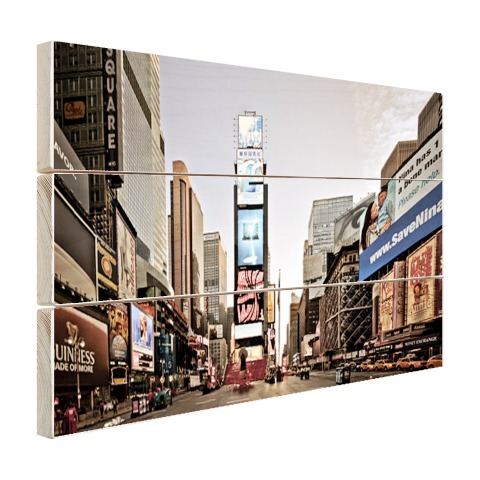 Zonsopgang Times Square Hout