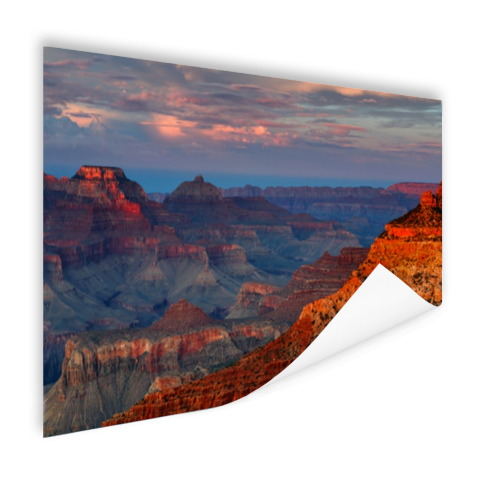 Mather Point zonsondergang Grand Canyon Poster