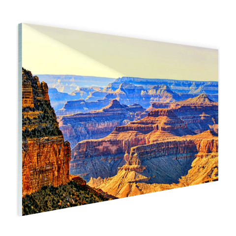 Uitizicht over Grand Canyon Glas