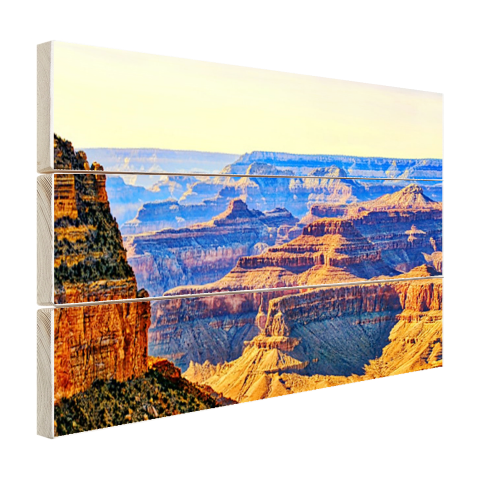 Uitizicht over Grand Canyon Hout