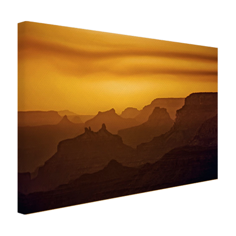 Zonsondergang over Grand Canyon Canvas