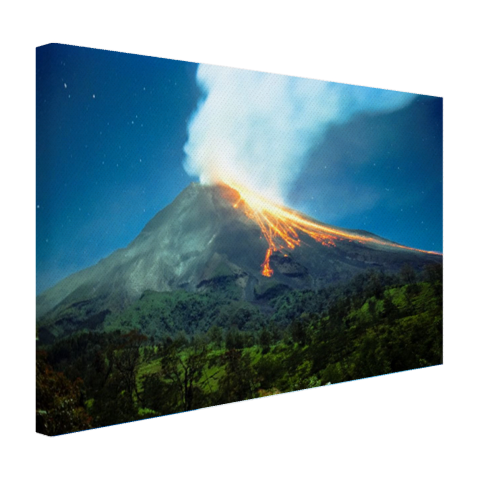 Mount Merapi Canvas