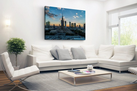 Warschau skyline Canvas