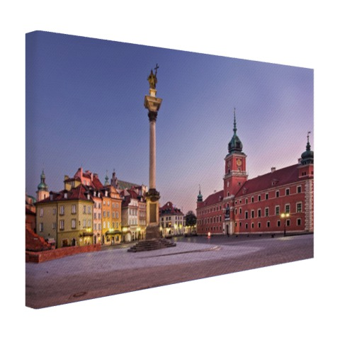 Foto print Castle Square Warschau op canvas geprint