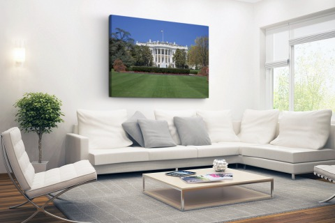 Witte Huis gazon Washington DC Canvas