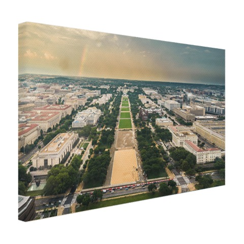 National Mall en Capitool op canvas