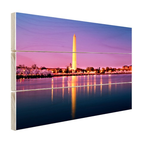 Washington monument op hout