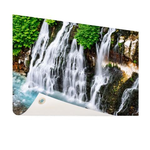 Brede waterval Tuinposter