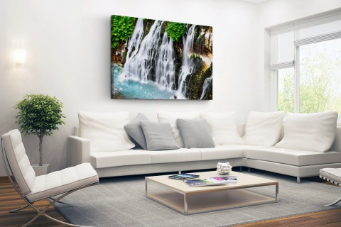 Brede waterval Canvas