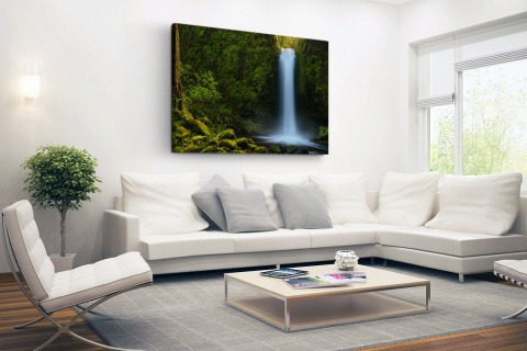 Jungle waterval Canvas