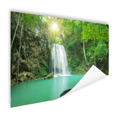 Erawan jungle waterval foto print
