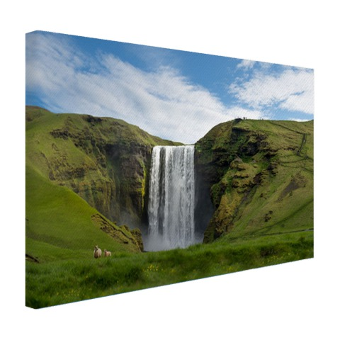 Skogafoss waterval in IJsland Canvas