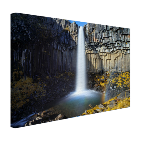 Svartifoss waterval in IJsland Canvas