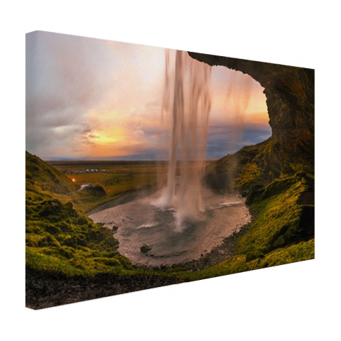 Waterval in IJsland Canvas