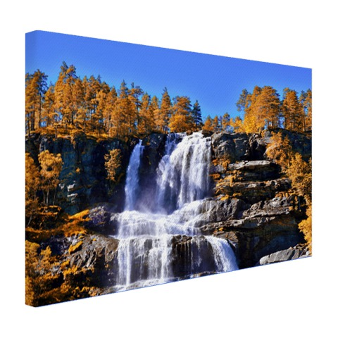 Waterval in Noorwegen Canvas