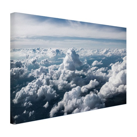 In de wolken op canvas