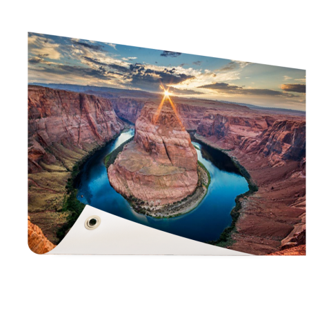 Horseshoe Bend Grand Canyon fotoprint Tuinposter