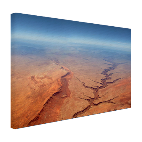 Luchtfoto van de Grand Canyon Canvas
