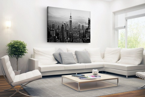 New York City zwart-wit fotoprint Canvas