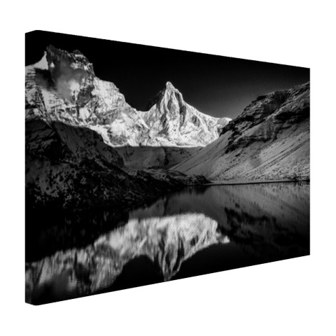 kedertal fotoprint zwart-wit canvas