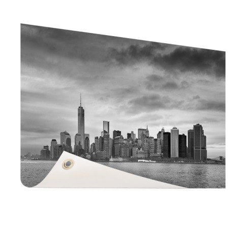 Manhattan New York in zwart-wit Tuinposter