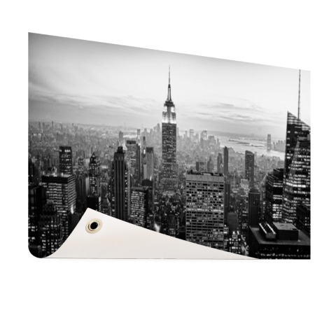 New York City zwart-wit fotoprint Tuinposter